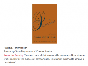 Book cover of Paradise by Toni Morrison