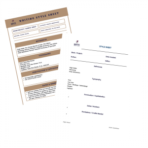 Images of style sheet sample and template